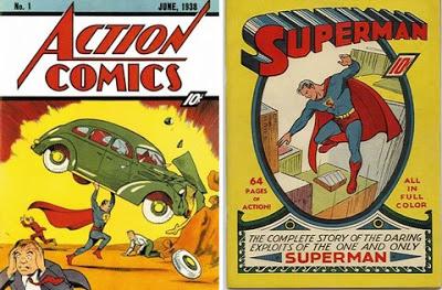 Superman en su primer comic