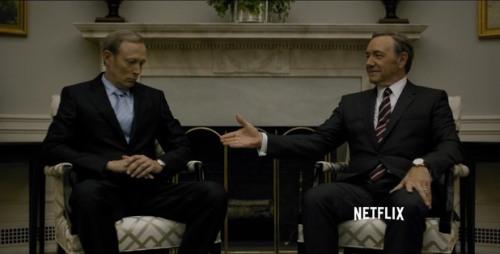 El presidente Underwood y su homologo ruso