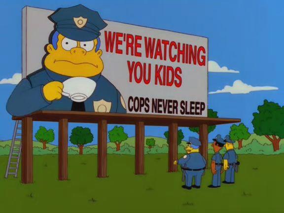 Imagen del capítulo de Los Simpsons...