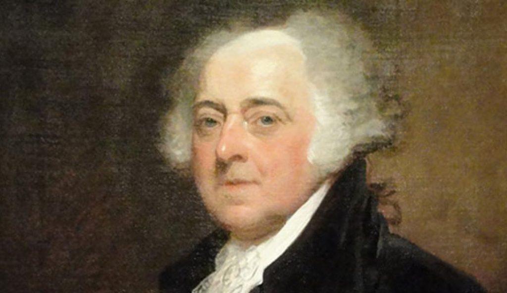 Retrato de John Adams.